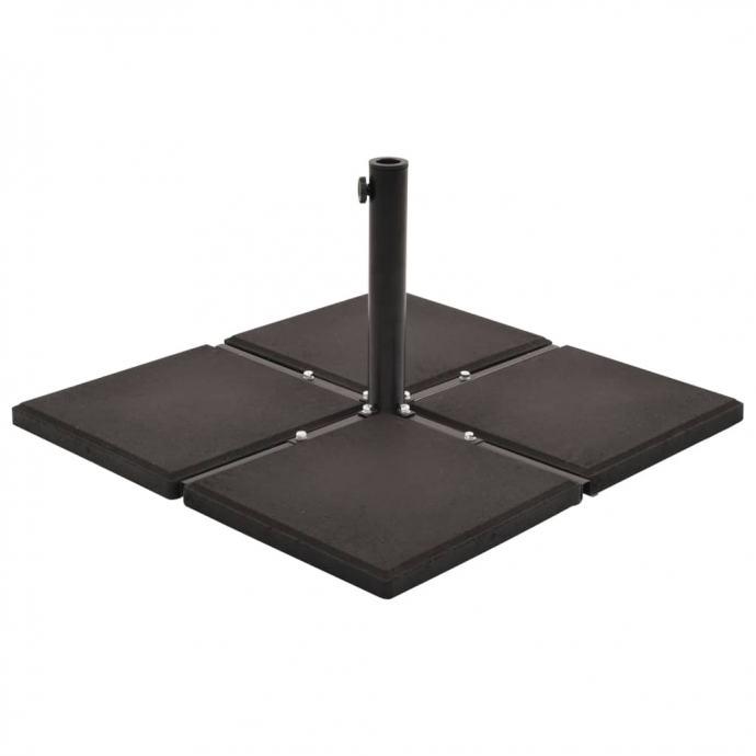 Utezi za suncobran 4 kom crni betonski kvadratni 48 kg - NOVO