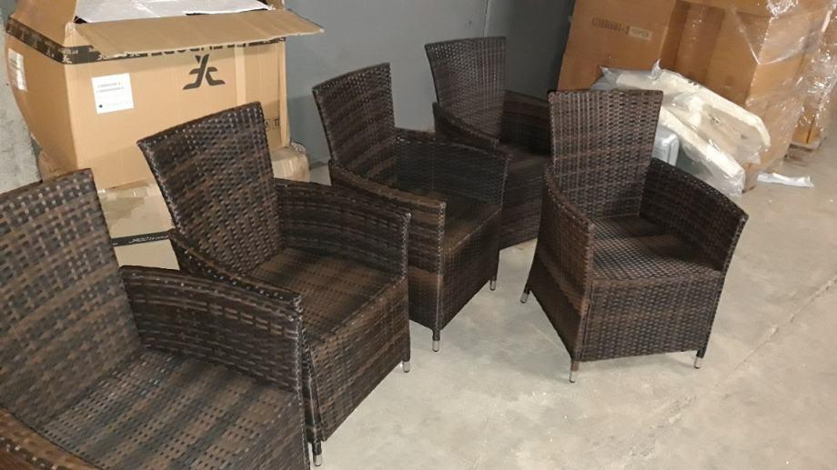 Stolice od poliratana sive 4 kom
