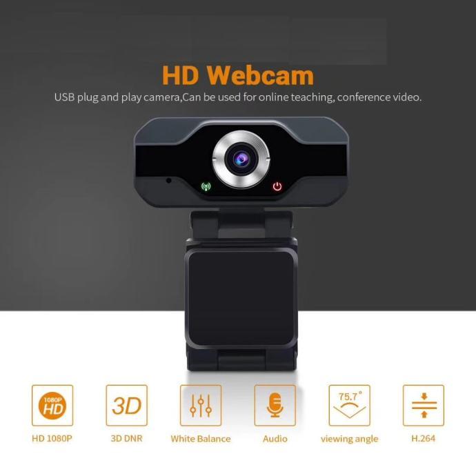 Web Kamera Vandsec Full HD 1080P + Mikrofon,novo u trgovini,račun,gar