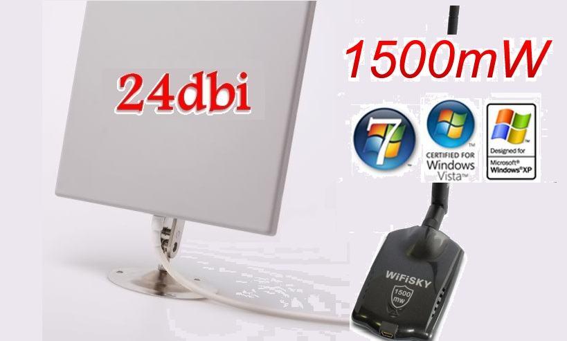 1500mw Wifi Wireless Rtl8187l 24dbi Antena 10km Domet