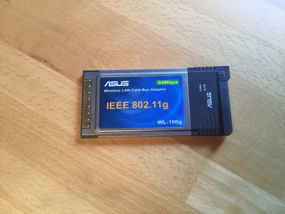 ASUS bežična kartica WL-100G pcmcia WLAN