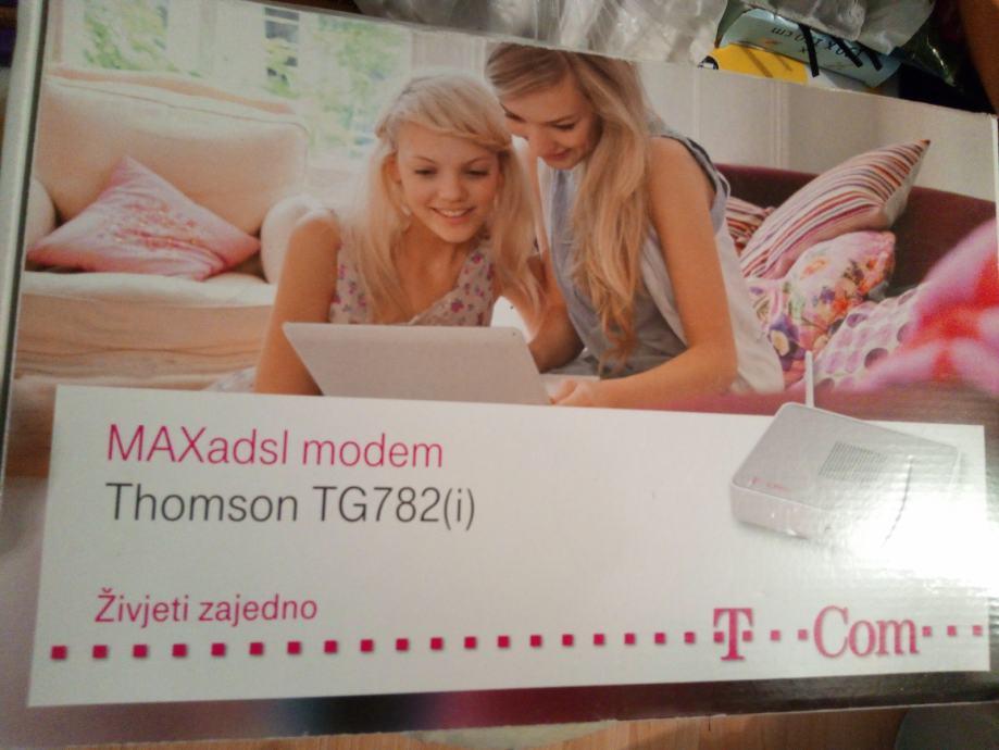 MAX ADSL modem THOMSON TG782(i) u orig. kutiji KAO NOV 50kn 098-661323