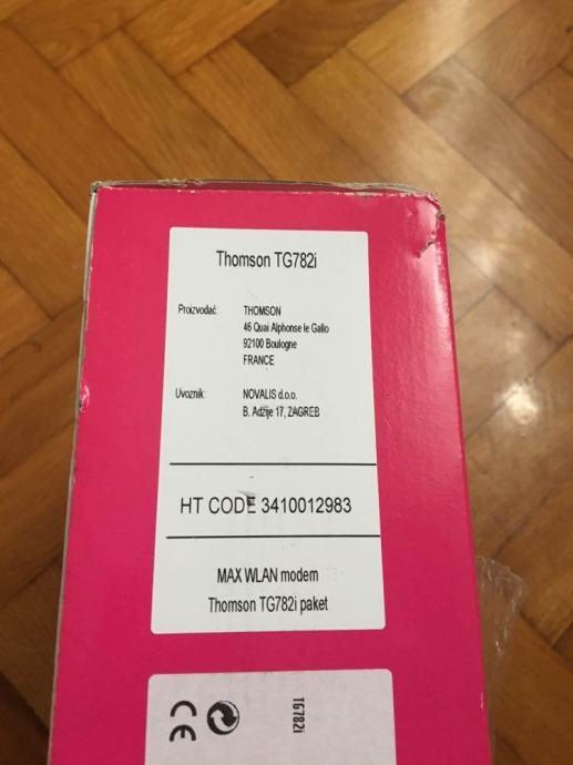 Router Thomson TG782i T - Com