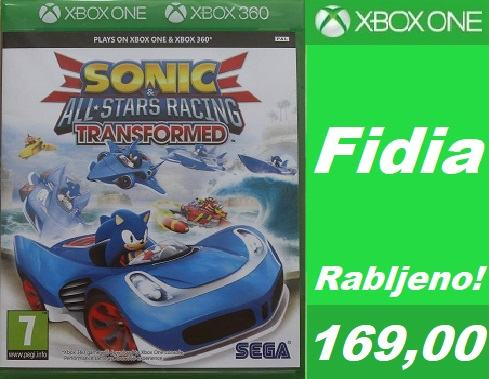 Sonic and All Stars Racing Transformed  XBox One & XBox 360