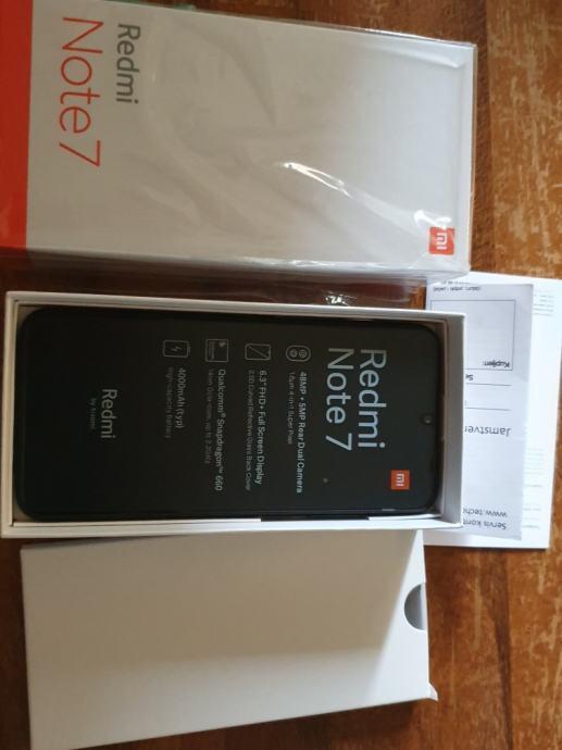 Redmi Note 7 4+64 GB, crni, zapakiran