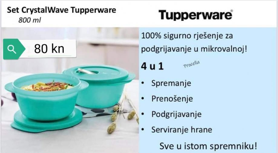Tupperware Crystalwave 800ml