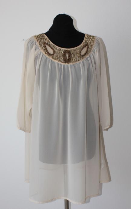 H&M bluza tunika nude boje sa aplikacijama - vel. 36/38