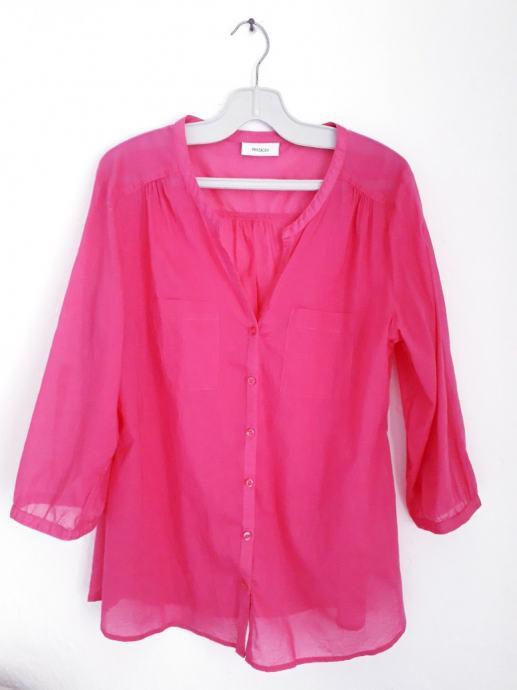 Košulja od lana boje fuksije 38