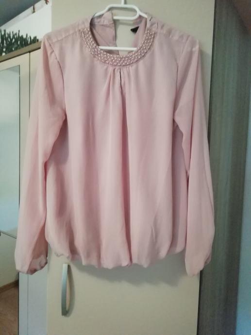 Svileno roza košulja M