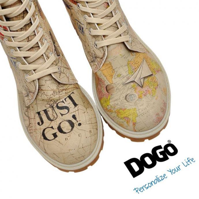 Čizme s podstavom - motiv za žene TRAVEL LOVER - DOGO