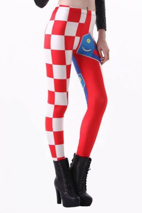 Tajice Leggings Navijačke Hrvatska Zastava Hrvatski Grb