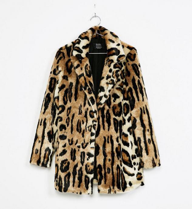 Kaput krzno sa leopard printom