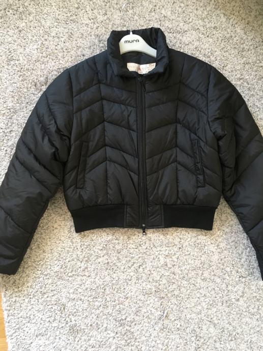 KOOKAI punjena crna bomber jakna sa šalom toperica