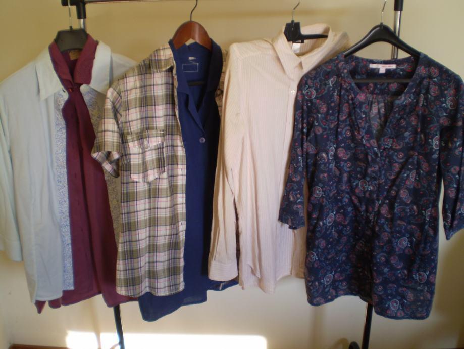 košulje, kaputi, jakne, mantili