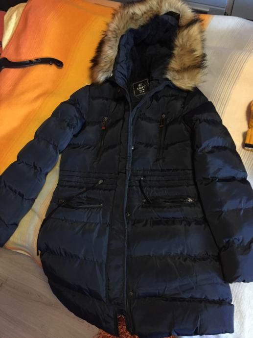 Ženska zimska tamnoplava jakna