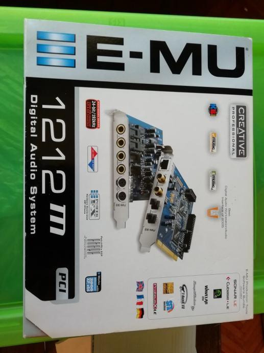 Prodajem zvučnu karticu E-MU 1212m