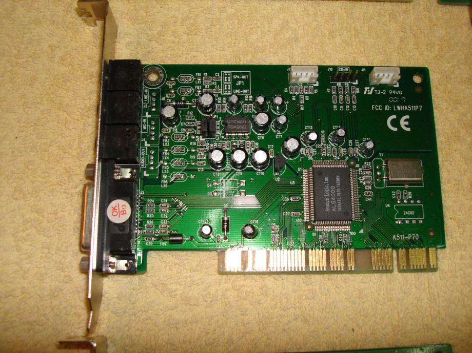 Zvučna kartica PCI sučelje