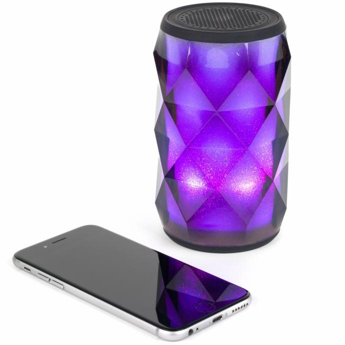 Zvučnik prijenosni bežicni bluetooth CRYSTAL CAN LED 4C